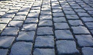 cobblestones on an old main street