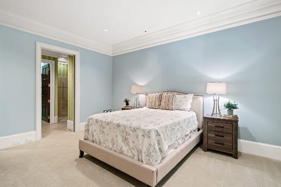 bedroom in guest suite at 12324 birchfalls drive