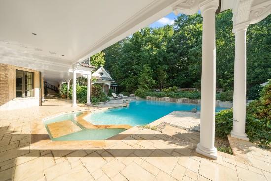 patio and pool at 12324 birchfalls drive