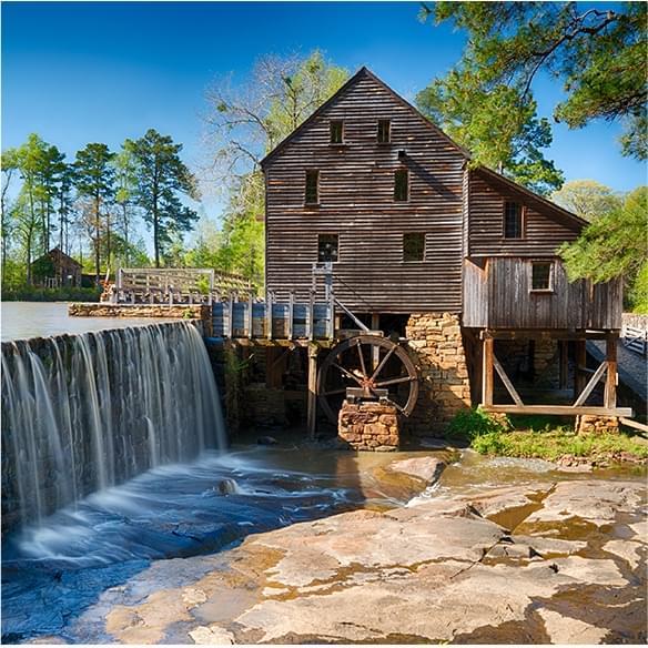 Yates Mill waterfall