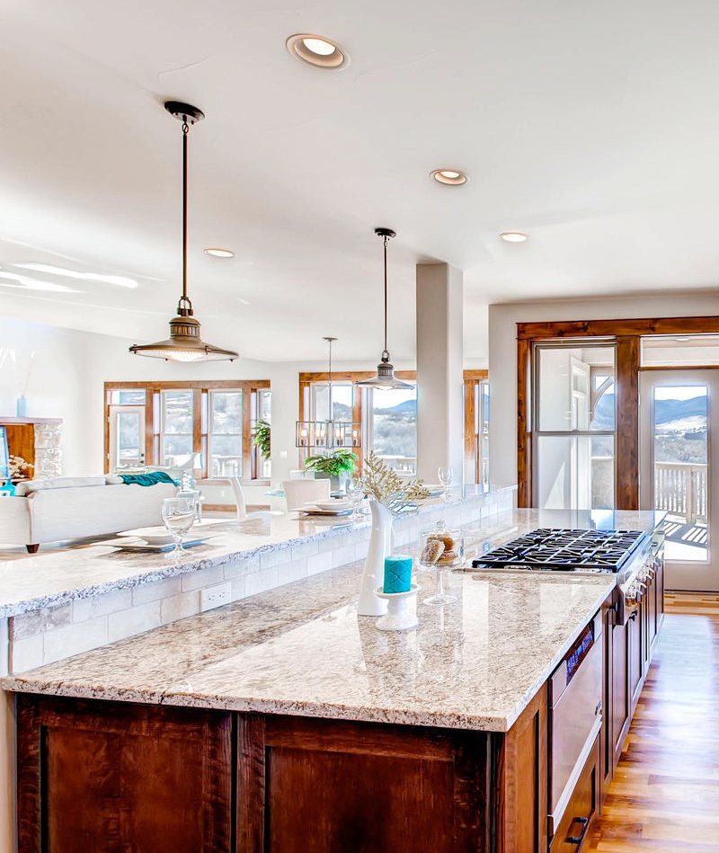 Photo of a beautiful kitchen in a home for sale
