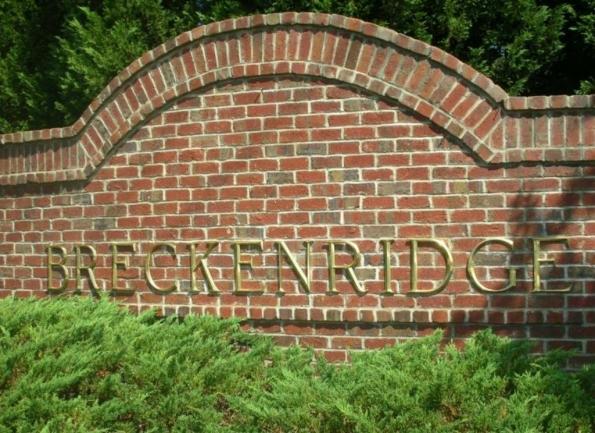 Breckenridge, Morrisville NC Entrance Sign