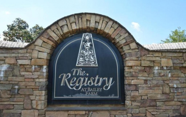 The Registry, Raleigh NC Entrance Sign
