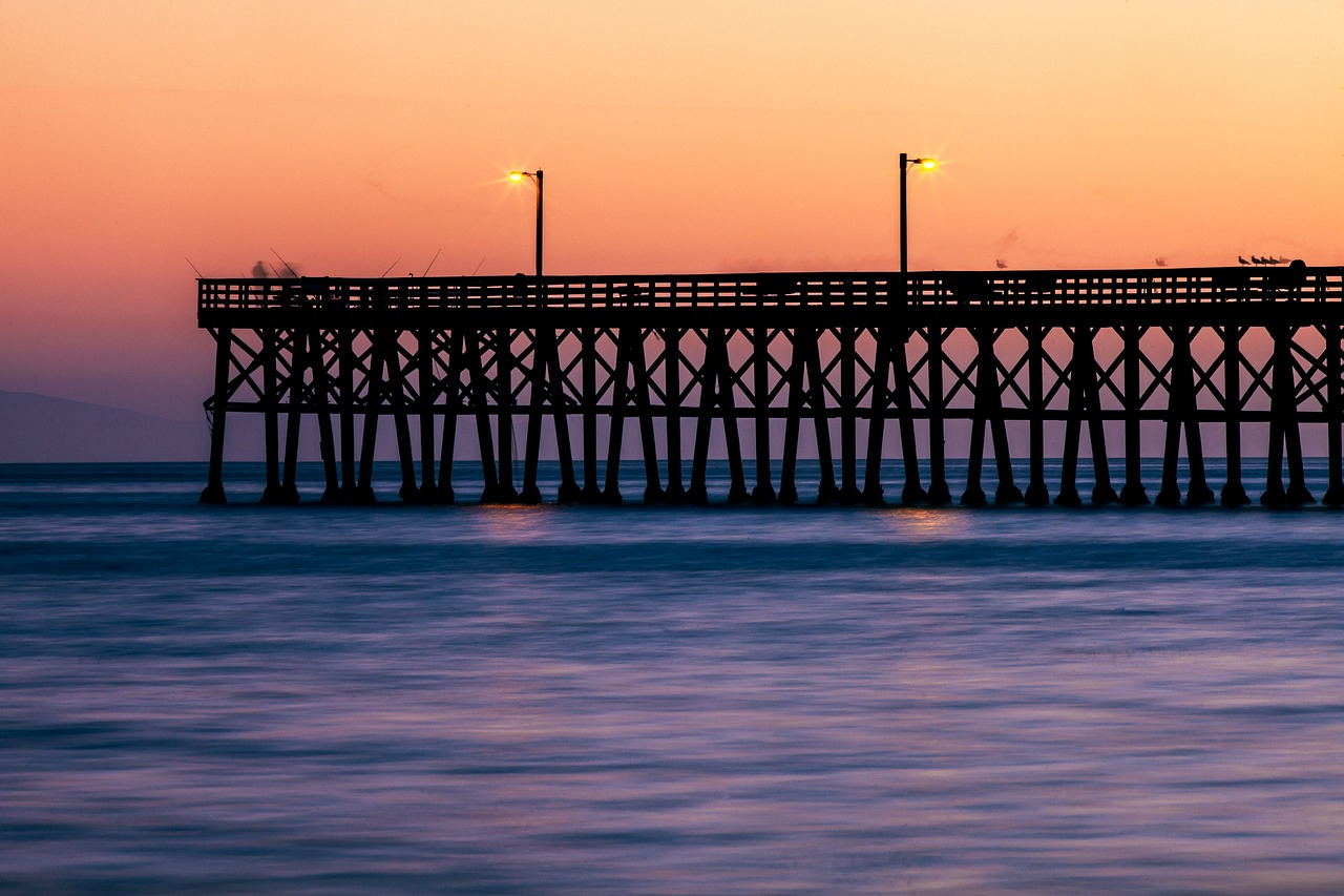 south point pier sunset