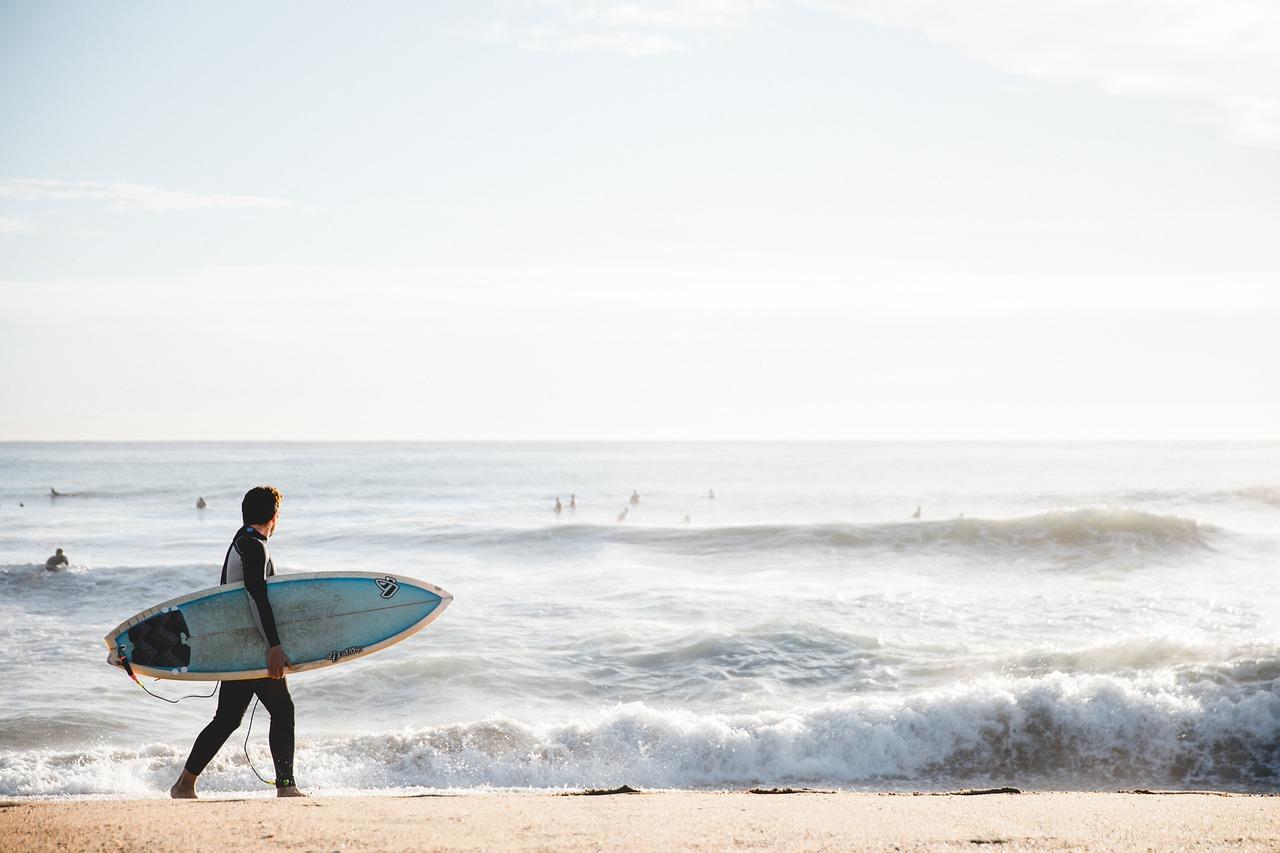 surfboard at sea