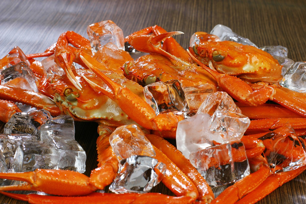 Plate of snow crabs.
