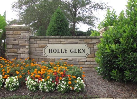 Holly Glen Neighborhood Sign Holly Springs NC