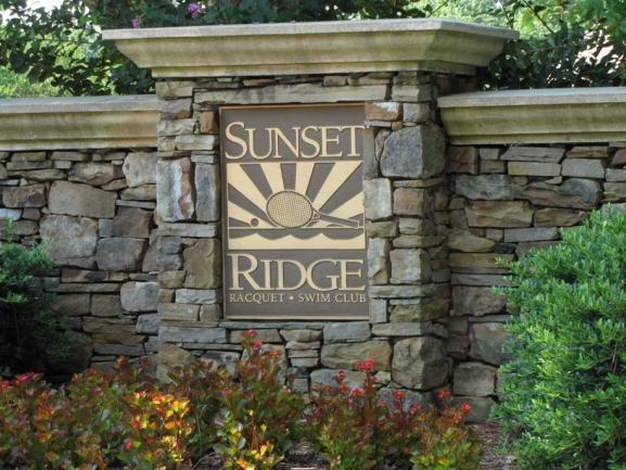 Sunset Ridge Neighborhood Sign