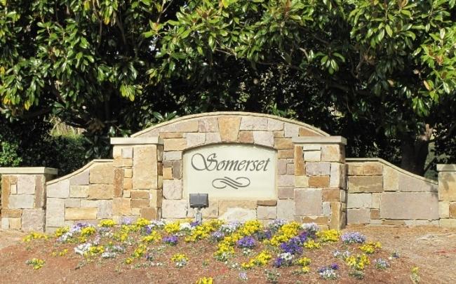 Somerset Neighborhood Sign