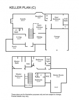 Keller Floor Plan