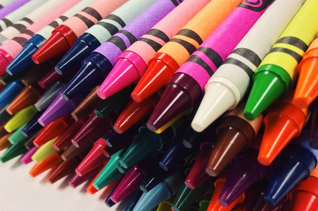 school crayons