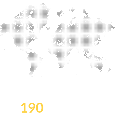 Traffic from over 190 countries