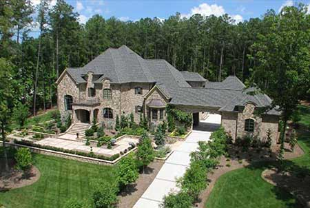 Aerial view of luxurious home