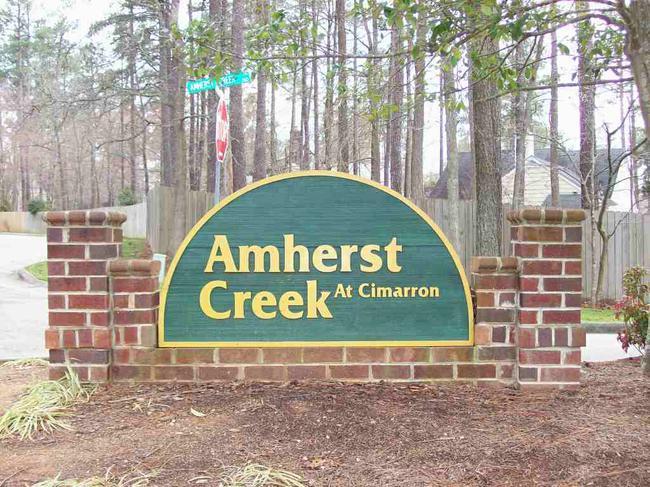 Amherst Creek at Cimarron entrance sigh