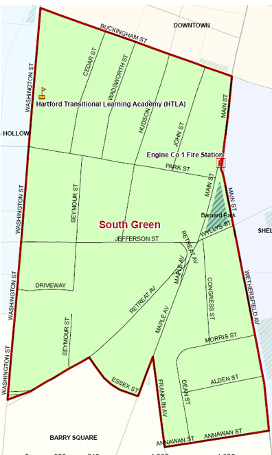 South Green Area Map