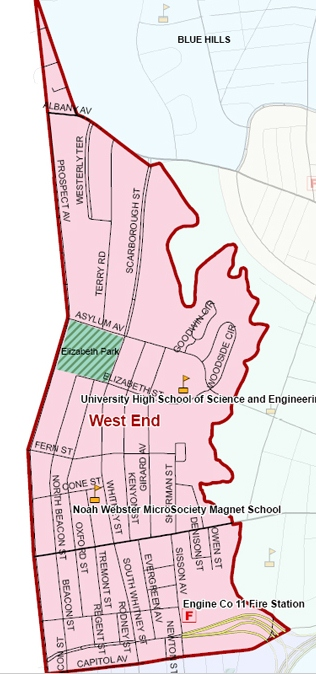 West End Area Map