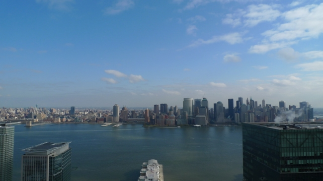 Great Views from Trump Plaza in Jersey City, NJ