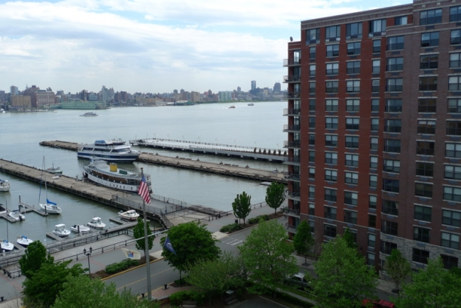 View of the Shipyard on the Hudson River from 2 Constitution Court in Hoboken, NJ