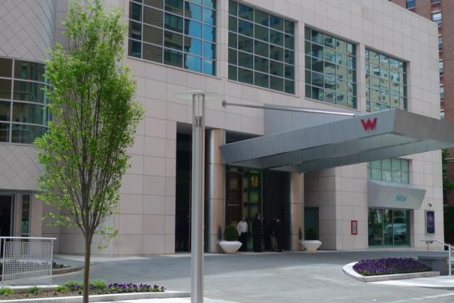 The W Hoboken Entrance in Hoboken, NJ