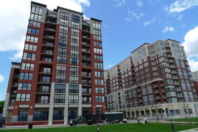 Pedestrian View of Maxwell Place Condos in Hoboken, NJ