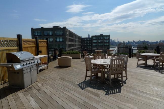Rooftop Deck at Harborside Lofts in Hoboken, NJ