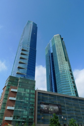 The Almost Entirely Glass Design of 77 Hudson Offers a Great View of Jersey City, NJ
