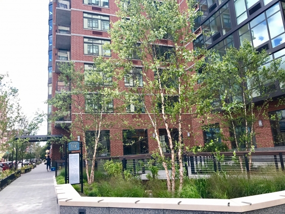 Small Courtyard at 1400 Hudson Condos in Hoboken, NJ