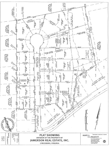 Lynchburg Neighborhood Plat Map for Seven Oaks