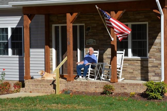 Seven Oaks Neighbor enjoying his home