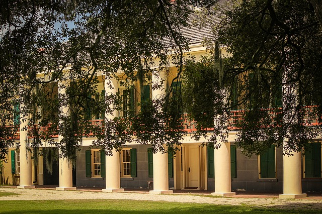 the exterior of the plantation house in Destrehan LA