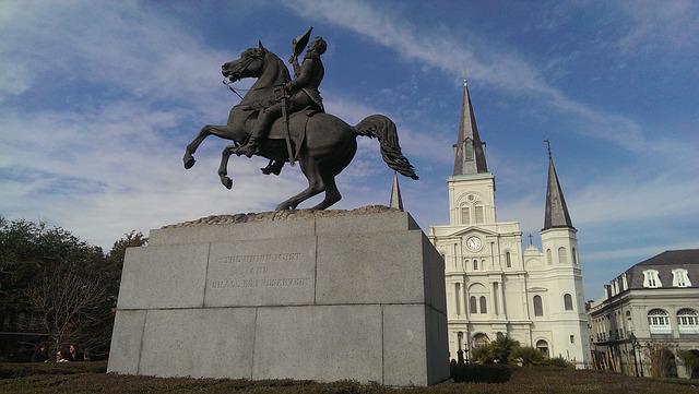The statue in Jackson Square