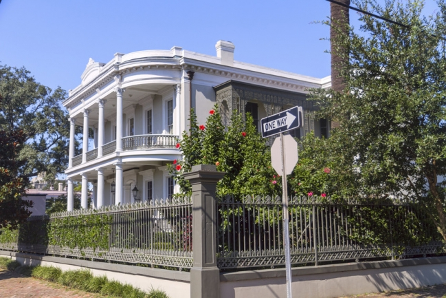 A mansion within the Garden District