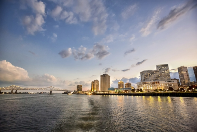 The Mississippi River and the Downtown New Orleans skyline