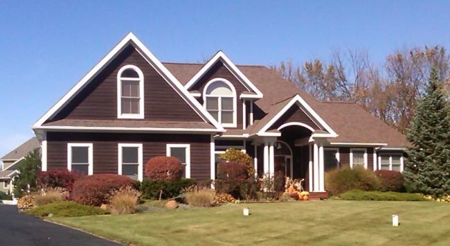 Style of Custom Home in Oak Park Saline Schools.