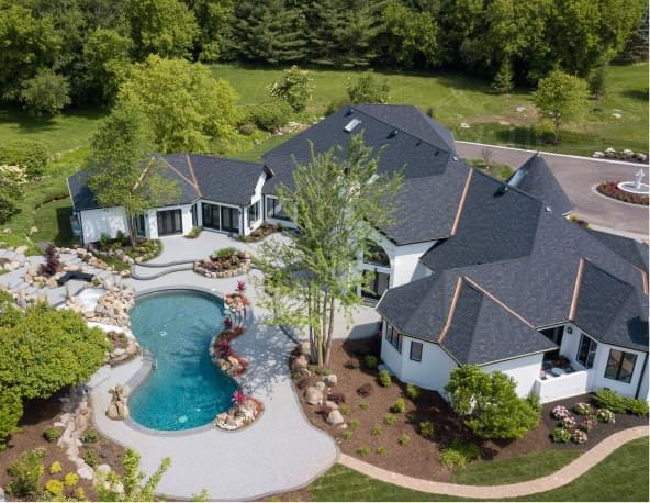 Home with pool and large yard