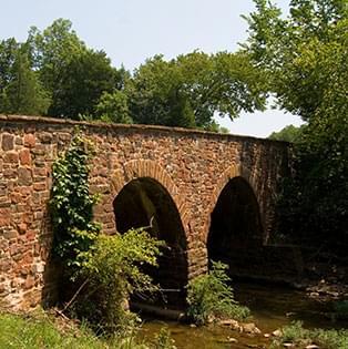 Stone bridge over a river