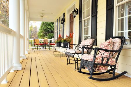 front porch on a country home