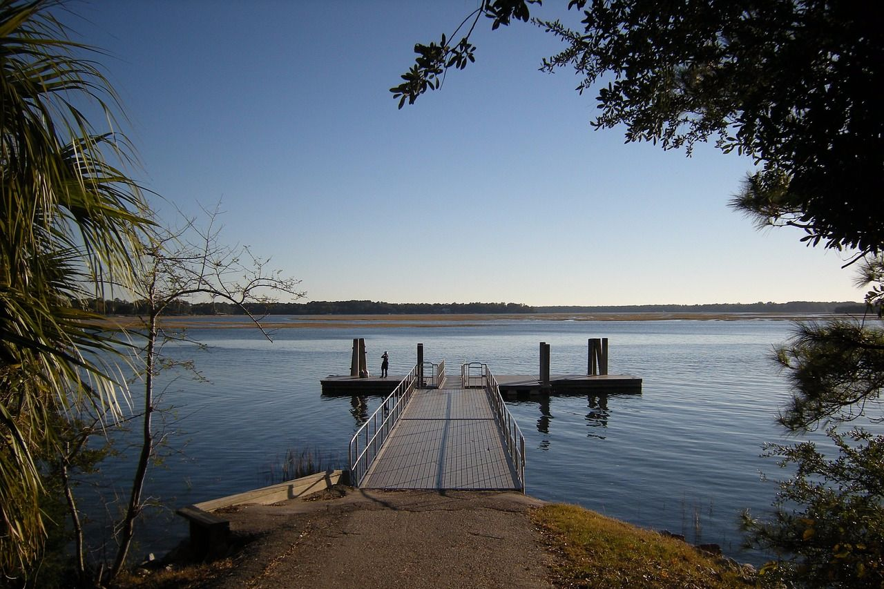 home with a deepwater dock