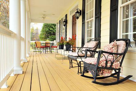 A spacious front porch.