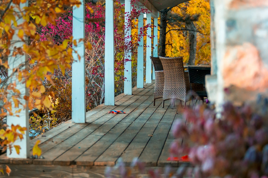 a cozy front porch