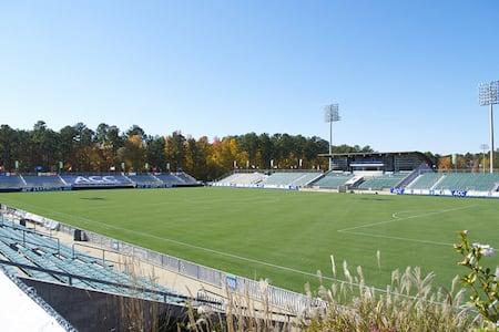 WakeMed Soccer Park stadium in Cary, NC.
