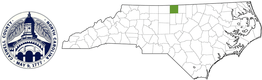 Caswell County NC Map and Logo
