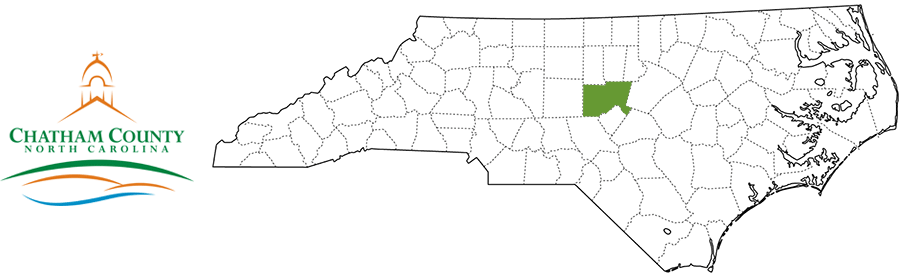 Chatham County NC Map and Logo