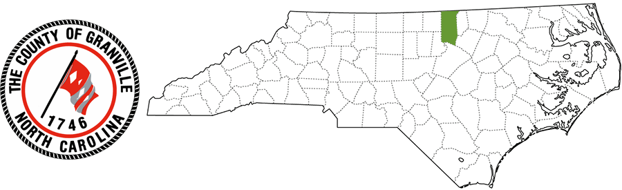 Granville County NC Map and Logo