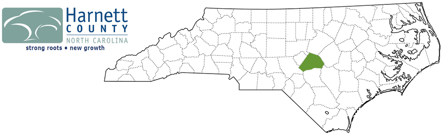 Harnett County NC Map and Logo