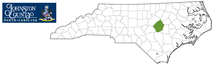 Johnston County NC Map and Logo