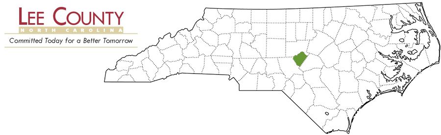 Lee County NC Map and Logo