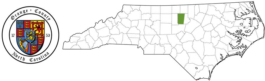 Orange County NC Map and Logo