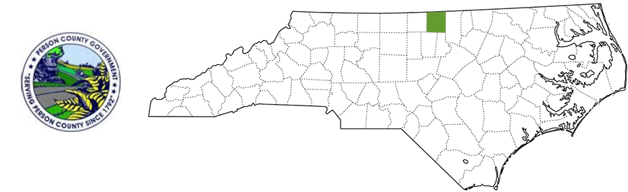 Person County NC Map and Logo