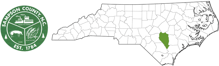 Sampson County NC Map and Logo
